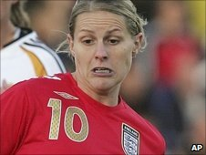 England striker Kelly Smith