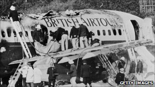 British Airtours plane after 1985 fire