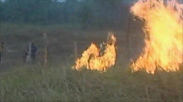 Fire in Bolivia