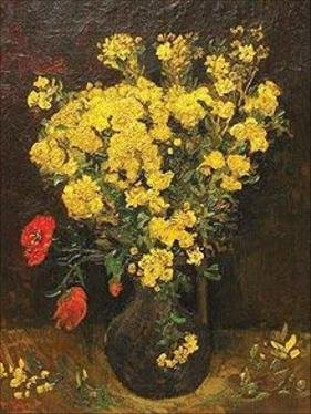 Poppy Flowers/Vase And Flowers by Van Gogh - courtesy Mahmoud Khalil museum