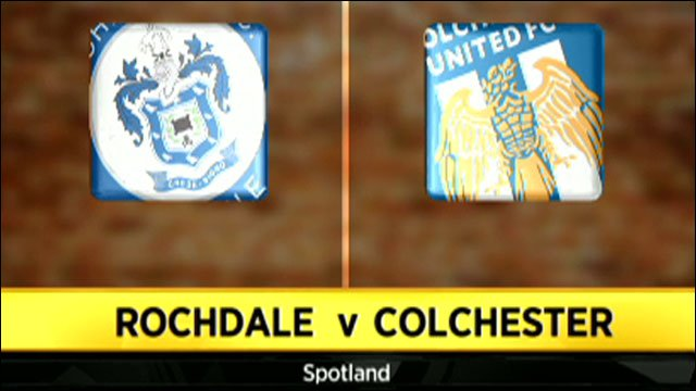 Highlights - Rochdale 1-2 Colchester