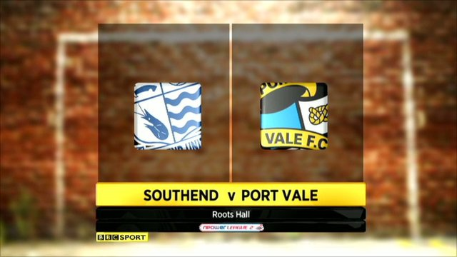Southend 1-3 Port Vale