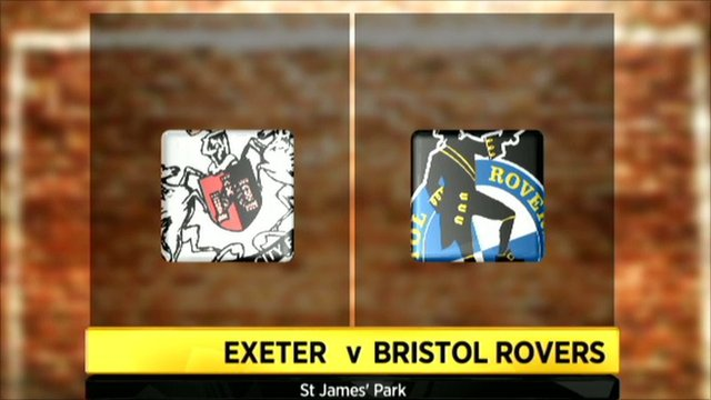 Exeter and Bristol Rovers club badges