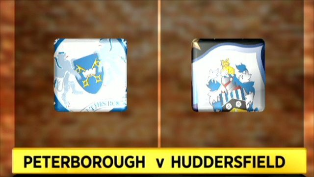 Peterborough and Huddersfield club badges