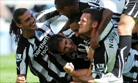 Newcastle United celebrate