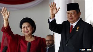 President Susilo Bambang Yudhoyono and his wife Ani, 18 August 2010
