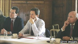 George Osborne, Nick Clegg and Iain Duncan Smith