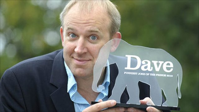 Tim Vine with his trophy
