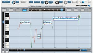 A screenshot of auto-tune in action