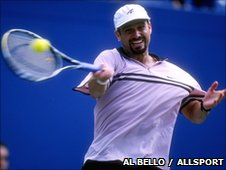 Andre Agassi at the US Open in 1997