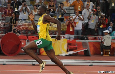 Usain Bolt at Beijing 2008