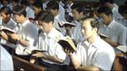 Students at National Catholic Seminary, Beijing