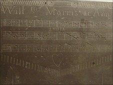 Carved slate