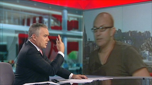 Huw Edwards and Brendon Burns