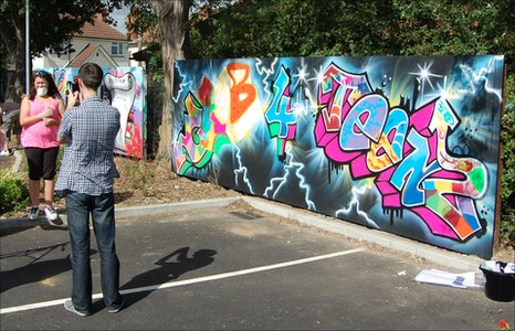 Graffiti project, Gainsborough Library, Ipswich