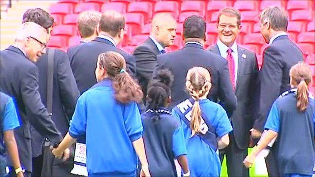Fifa team visit Wembly
