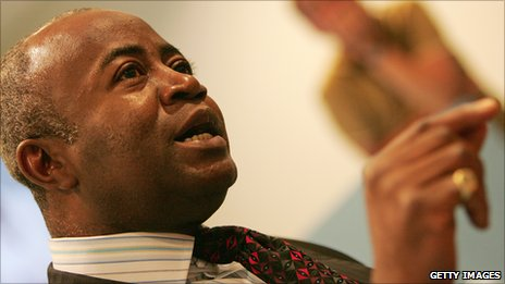Courtenay Griffiths at The Hague.