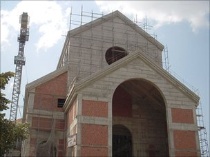 New cathedral being built in Pristina