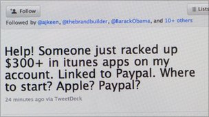tweet about itunes hack