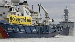 Greenpeace's protest ship Esperanza