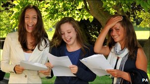 Pupils get their results