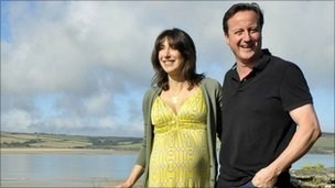 David and Samantha on holiday
