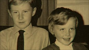 Mark Eakin with his sister Kathryn who was eight when she was killed in Claudy