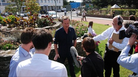 Prime Minister David Cameron at the Royal Cornwall Hospital, Treliske