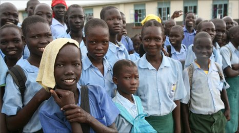 School children from Sudan