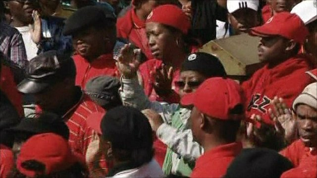 South Africa public service workers on strike
