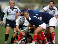Scotland lost to France in their second World Cup Pool C clash
