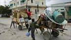 People fleeing Mogadishu