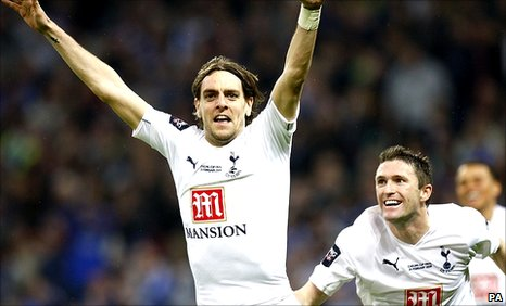 Jonathan Woodgate celebrates