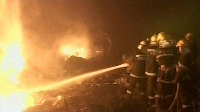China plane crash scene