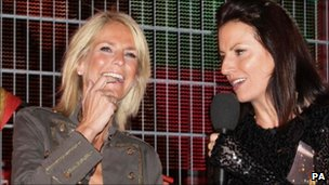 Ulrika Jonsson and host Davina McCall