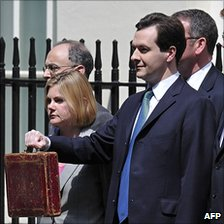 George Osborne and his Treasury team before he delivered June's Budget