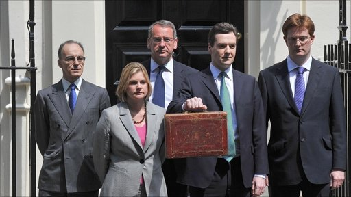 George Osborne and team on Budget Day