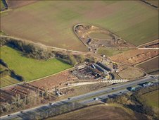 A1 Dishforth to Leeming upgrade scheme, North Yorkshire. Image courtesy of the COI Yorkshire & Humber
