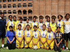 St. Stephen�s Girls football team
