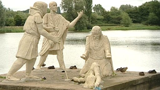 Monument at Leicester&amp;apos;s Watermead Park