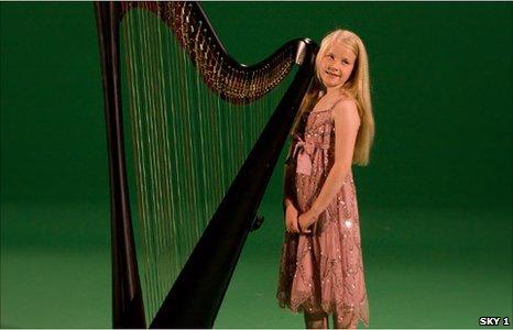 Hero with harp