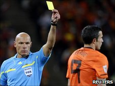 Howard Webb and Robin van Persie