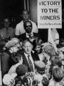 Arthur Scargill in Sheffield in 1984