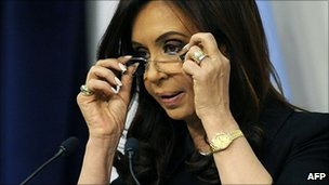 Argentine President Cristina Fernandez de Kirchner, Buenos Aires (24 August 2010)