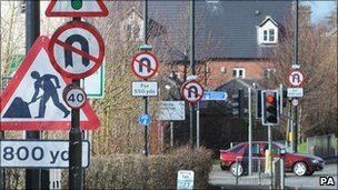 plans to improve the quot jungle of signsquot  on britains roads following the