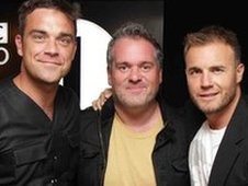 Robbie Williams, Chris Moyles and Gary Barlow