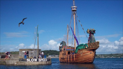 A little bit of Hollywood fantasy has come to a Cornish fishing village