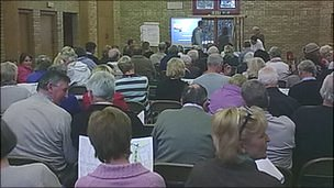 Public meeting at Leighton village hall, near Welshpool