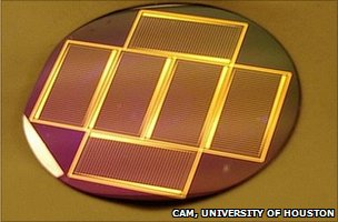 A solar cell made by molecular beam epitaxy technique