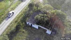 A ranch in San Fernando in Tamaulipas state where 72 bodies were found, August 24, 2010